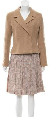 Chanel Cashmere & Silk Knee-Length Skirt Suit