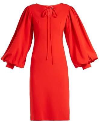 Osman Maxine blouson-sleeve crepe dress