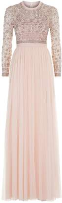 Needle & Thread Andromeda Embroidered Gown