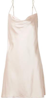 BEIGE Skin - Draped Stretch-silk Satin Chemise