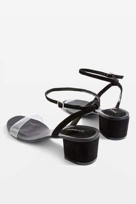 Topshop DARLA 2 Part Block Heel Sandals