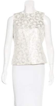 Max Mara Metallic Printed Top