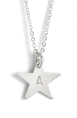 Women's Nashelle Sterling Silver Initial Mini Star Pendant Necklace $60 thestylecure.com