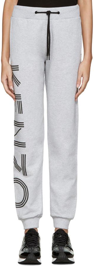 Kenzo Grey Logo Lounge Pants