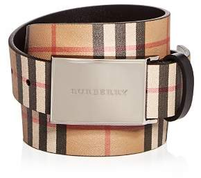 Burberry Charles Vintage Check Leather Belt