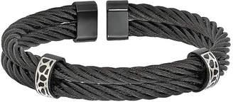 FINE JEWELRY Edward Mirell Black Ti Mens Cuff Bracelet