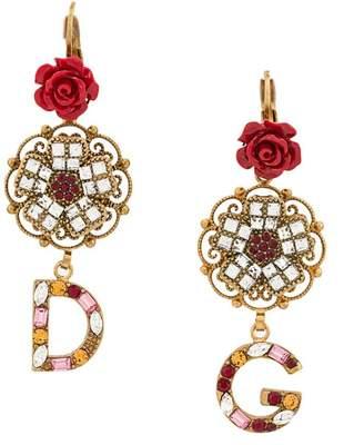 Dolce & Gabbana logo drop earrings