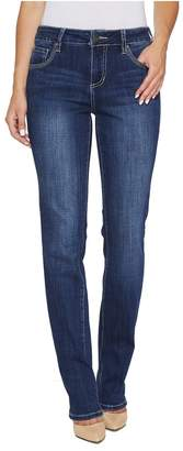 Jag Jeans Adrian Straight Jeans in Crosshatch Denim in Thorne Blue Women's Jeans