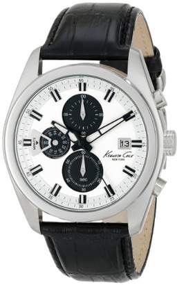Kenneth Cole New York Men's KC8041 Dress Sport Round Chronograph Strap Analog Watch