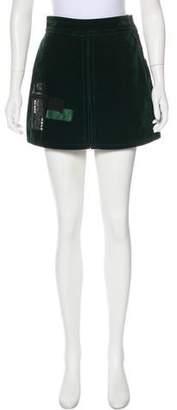 Marc Jacobs Velvet Sequin-Accented Skirt