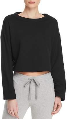 Alo Yoga Cropped Lace-Up Sweatshirt