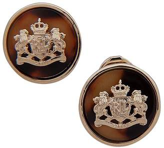 Lauren Ralph Lauren Tortoise Crest Clip-On Earrings