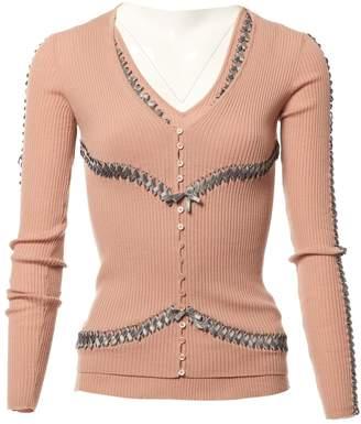 John Galliano Pink Wool Knitwear