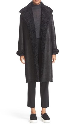 Vince Genuine Shearling Reefer Coat $2,495 thestylecure.com