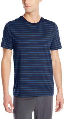 Daniel Buchler Men's Pima Cotton Modal Striped V-Neck T-Shirt