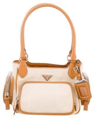 Prada Canapa & Cinghiale Shoulder Bag