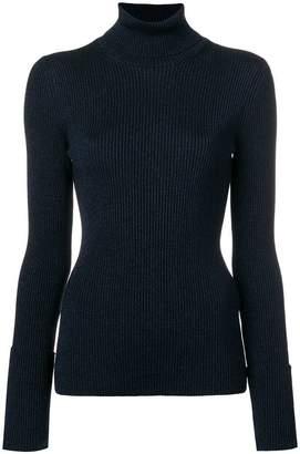 Roberto Cavalli shiny roll neck sweater