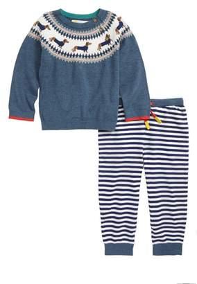 Boden Mini Intarsia Knit Sweater & Pants Set