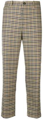 Closed checked trousers
