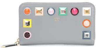 Fendi Embellished leather wallet