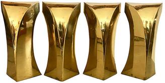 One Kings Lane Vintage 4 Bronze Coffee Table Legs - nihil novi