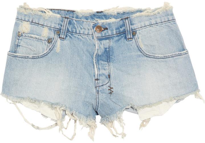 Ksubi Albuquerque distressed denim shorts