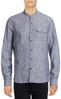 Michael Bastian Woven Linen Shirt