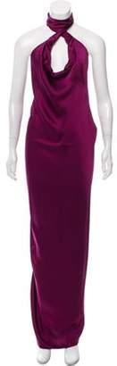 Stella McCartney Halter Maxi Dress Magenta Halter Maxi Dress