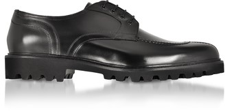 Fratelli Borgioli Black Leather Casual Derby Extralight Sole