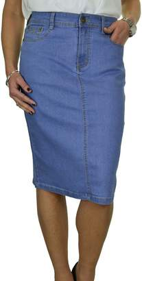 Ice Plus Size Stretch Denim Jeans Skirt Sequin Detail 8-20