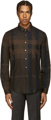 Burberry Brown Southbrook Shirt $350 thestylecure.com