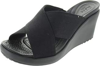 Crocs Women's Leigh II Cross-Strap Wedge Sandal
