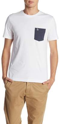 Original Penguin Short Sleeve Printed Terry Pocket Tee