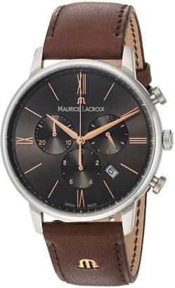 Maurice Lacroix Men's EL1098-SS001-311-1 Eliros Analog Display Quartz Brown Watch