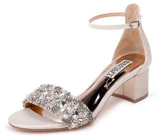 1ba92adf0f90 Badgley Mischka White Embellished Sandals For Women - ShopStyle Canada