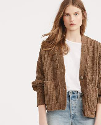 Ralph Lauren Cropped Wool-Blend Cardigan