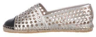 Loeffler Randall Metallic Leather Espadrilles