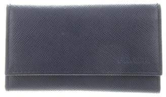 Prada Saffiano 6 Key Holder Navy Saffiano 6 Key Holder