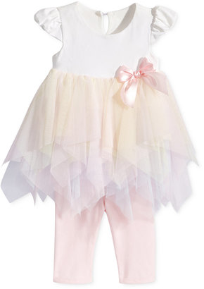 Bonnie Baby 2-Pc. Rainbow Tiered Tunic & Leggings Set, Baby Girls (0-24 months) $60 thestylecure.com