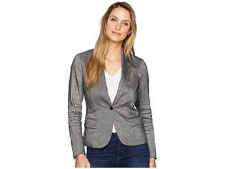 Anne Klein Howard Hawks Peak Lapel Jacket