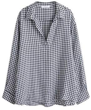 Violeta BY MANGO Gingham check blouse