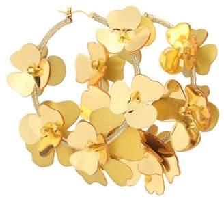 Oscar de la Renta Floral hoop earrings