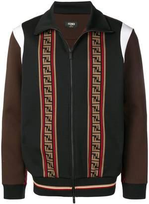 Fendi logo colour-block bomber jacket
