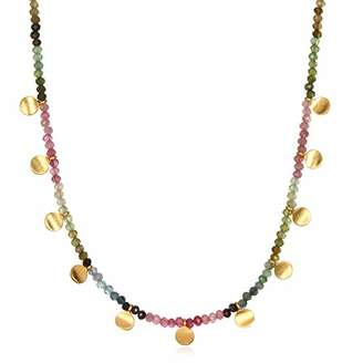 "Satya Jewelry Women's Tourmaline Gold Moon Choker Necklace 14-Inch +2"" Extension"