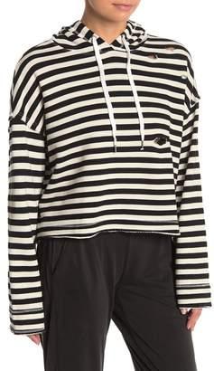 Splendid Striped Crop Pullover Hoodie