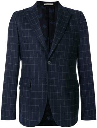 Bottega Veneta dark navy wool cashmere jacket