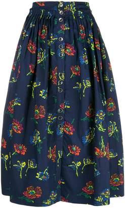 Ulla Johnson Midnight pleated skirt