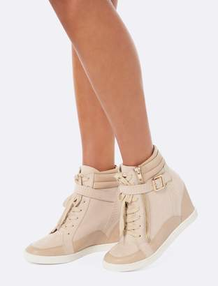 06160371415 Forever New Kayla Wedge Sneakers - Blush - 36