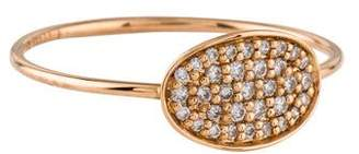 ginette_ny 18K Diamond Mini Sequin Ring