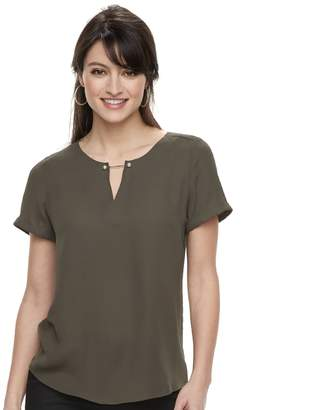 Apt. 9 Women's Keyhole Georgette Top